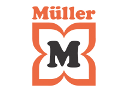 Logo of Müller, a company using Midori apps